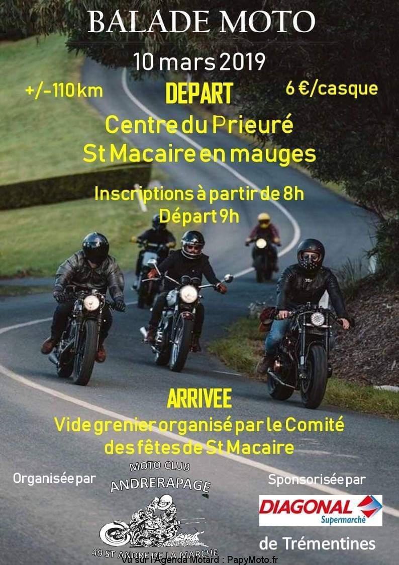 Balade Moto - 10 mars 2019 - centre du prieuré -  St Macaire en Mauges Balade52