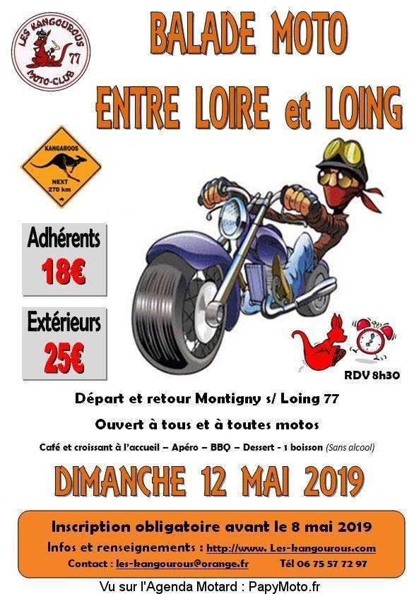 MANIFESTATION - Balade Moto - Dimanche 12 Mai 2019 - Montigny sur Loing (77)  Balade83