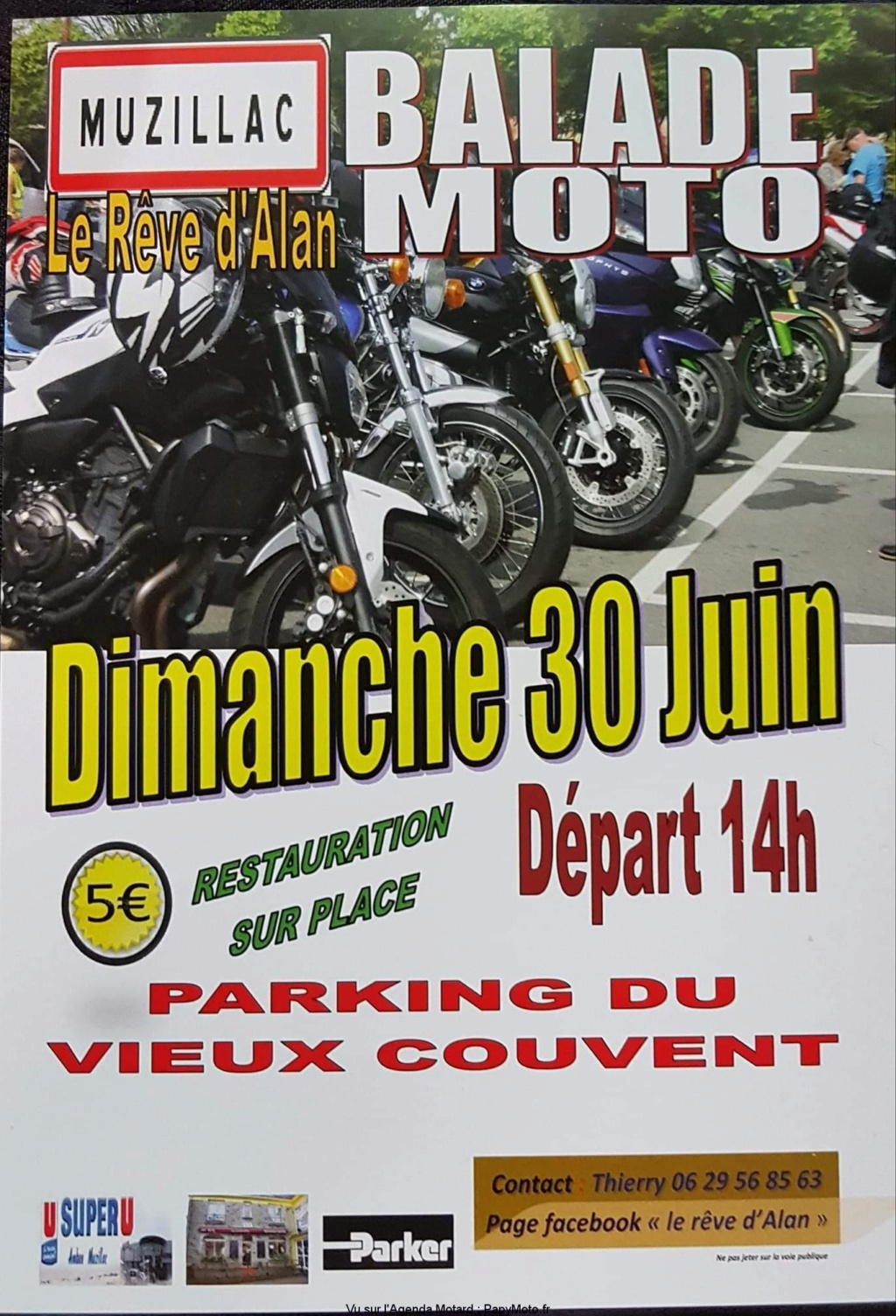 MANIFESTATION - Balade Moto - Dimanche 30 Juin 2019 - Muzillac - (56190) Balade89