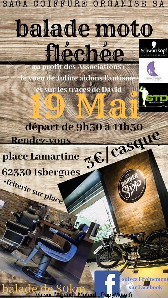 MANIFESTATION - Balade Moto Fléchée - 19 Mai 2019 - Isbergues - ( 62330) Balade90