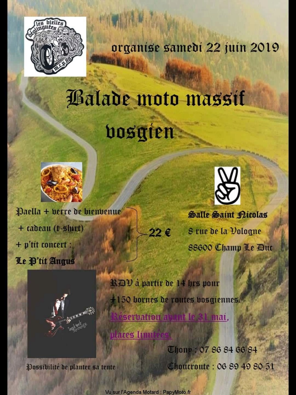 MANIFESTATION - Balade  Moto Massif Vosgien - Samedi 22 Juin 2019 - Champ Le Duc -( 88600 )) Balade92