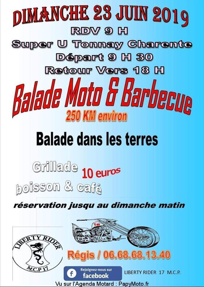 MANIFESTATION - Balade Moto & Barbecue - Dimanche 23 Juin 2019 - Tonnay Charente (17) Balade97