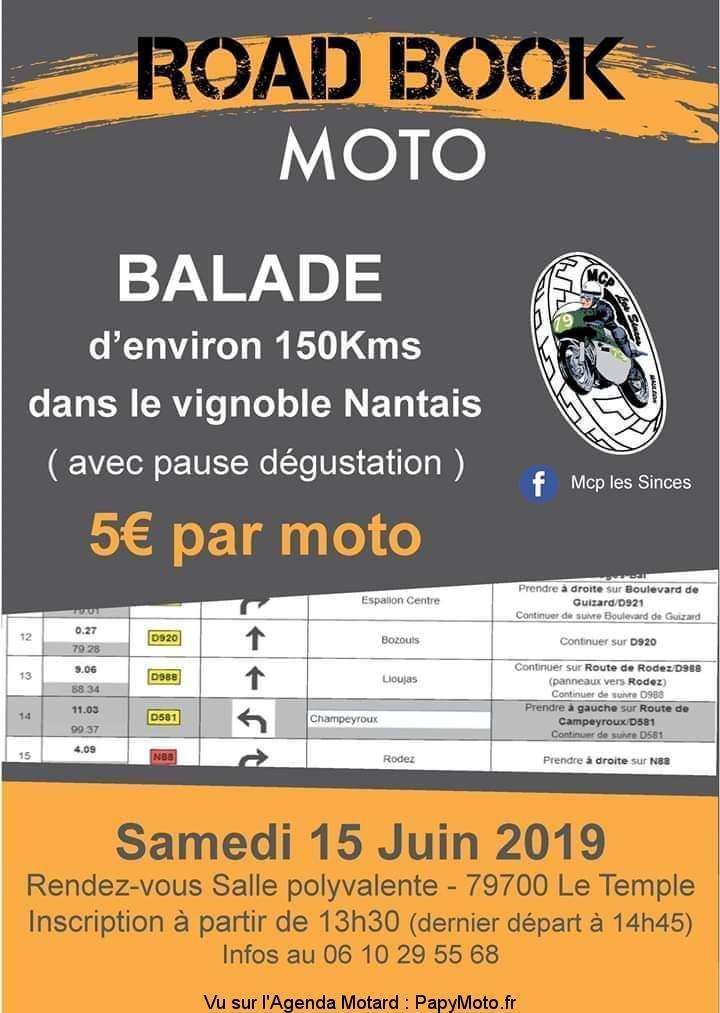 MANIFESTATION - Road Book Moto - Samedi 15 Juin 2019 - Le Temple (79700) Balade99