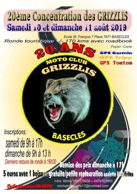 MANIFESTATION - Concentration 10 & 11 AOUT 2019 - Basécles (7971) Belgique   Basecl10
