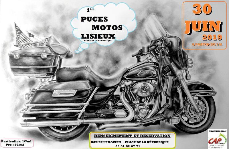 MANIFESTATION - Puces Motos - 30 juin 2019 - Lisieux ( Place de la République ) Bb7f9010