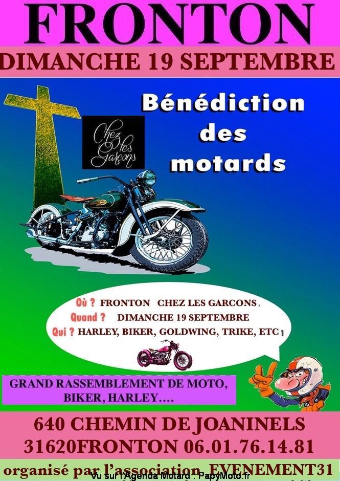 MANIFESTATION - Bénédiction des Motards - Dimanche 19 Septembre 2021 - Fronton (31620) Benedi12