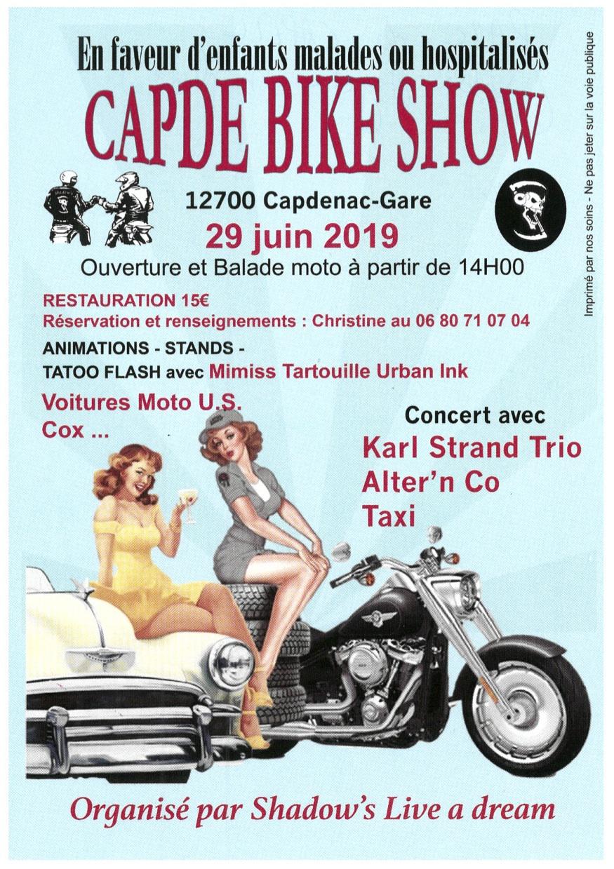 MANIFESTATION - Capde Bike Show - 29 Juin 2019 - Capdenac - Gare (12700) Bike-s10