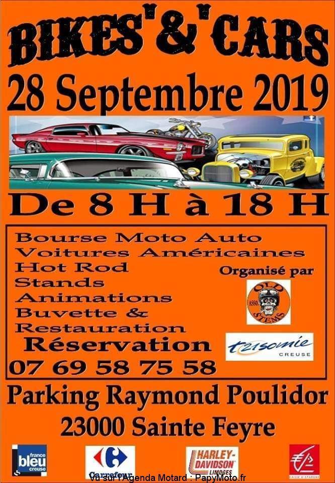 MANIFESTATION - Bikes'&'Cars - 28 Septembre 2019 - Sainte Feyre (23000) Bikesc10