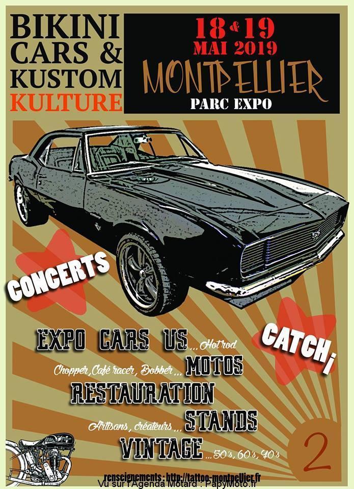 MANIFESTATION - Bikini Cars & Kustom Kulture - 18 & 19 Mai 2019 - Montpellier ( Parc Expo ) Bikini10