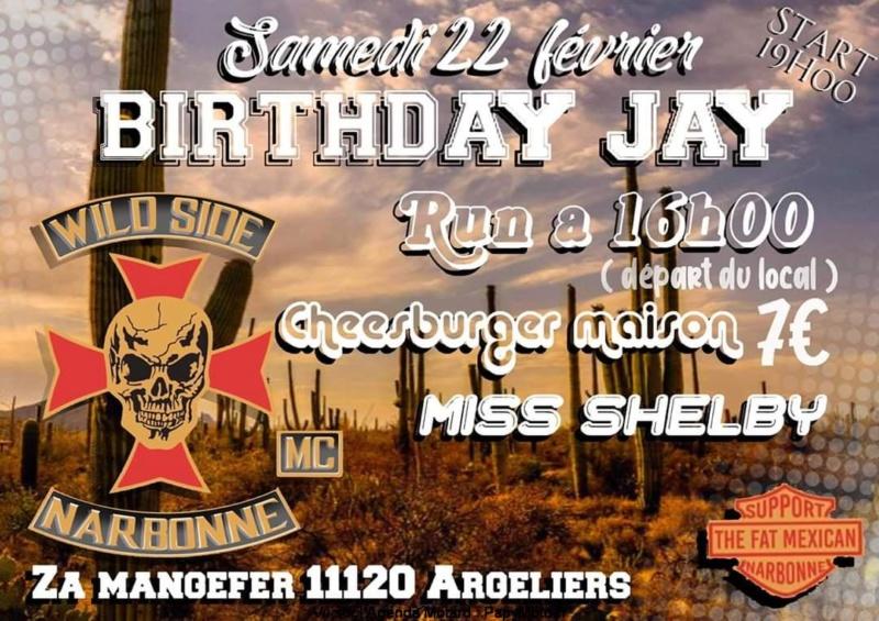 MANIFESTATION - Birthday Jay & run - Samedi 22 Février 2020 - Argeliers (11120) Birthd10