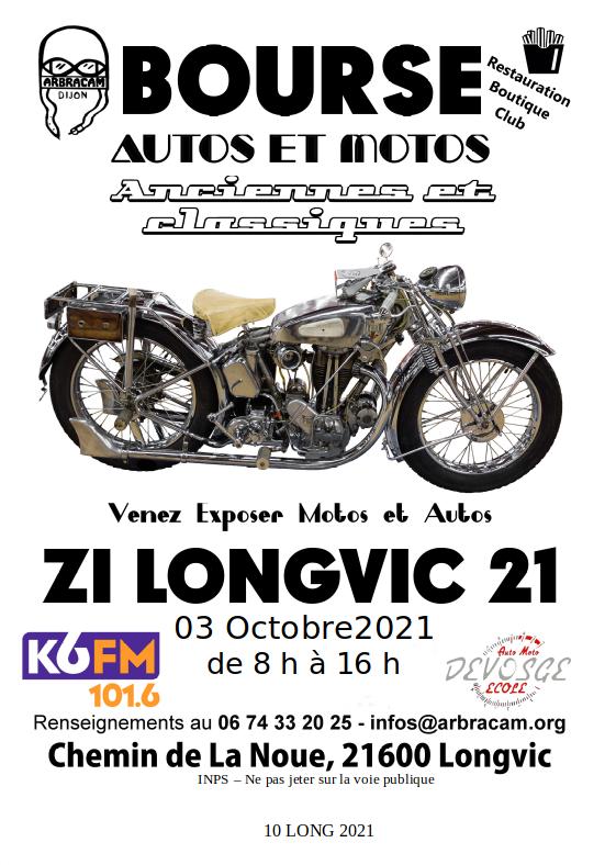 MANIFESTATION - Bourse auto & Moto - 3 Octobre 2021 - Longvic (21600) Bourse10