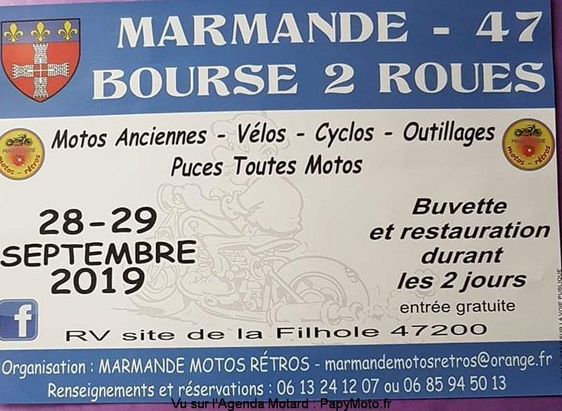 MANIFESTATION - Bourse 2 Roues -  28 & 29 Septembre 2019 - Marmande (47) Bourse41