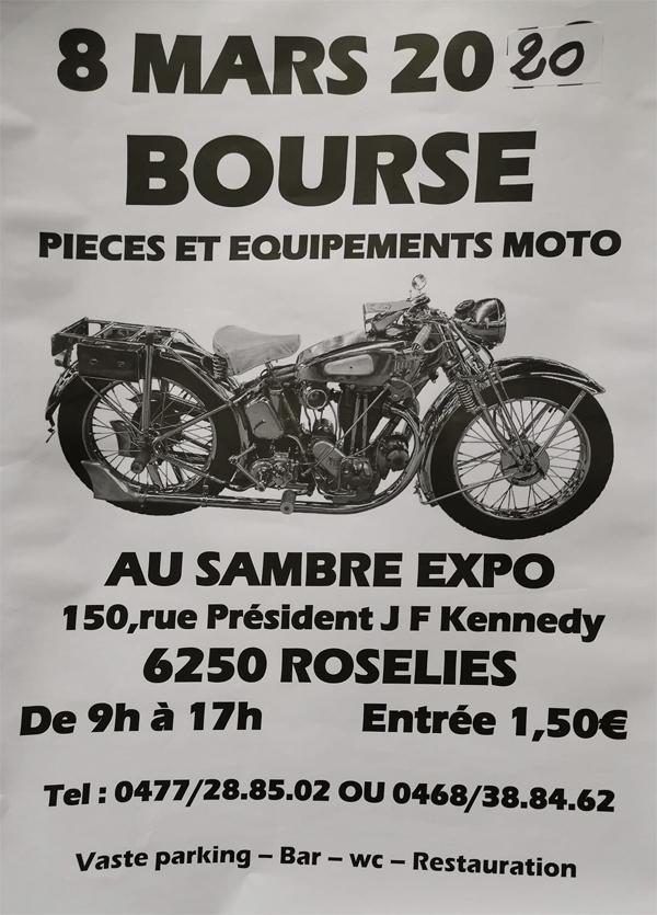 MANIFESTATION - Bourse Moto - Dimanche 8 Mars 2020 - Roselies (6250 Belgique) Bourse49