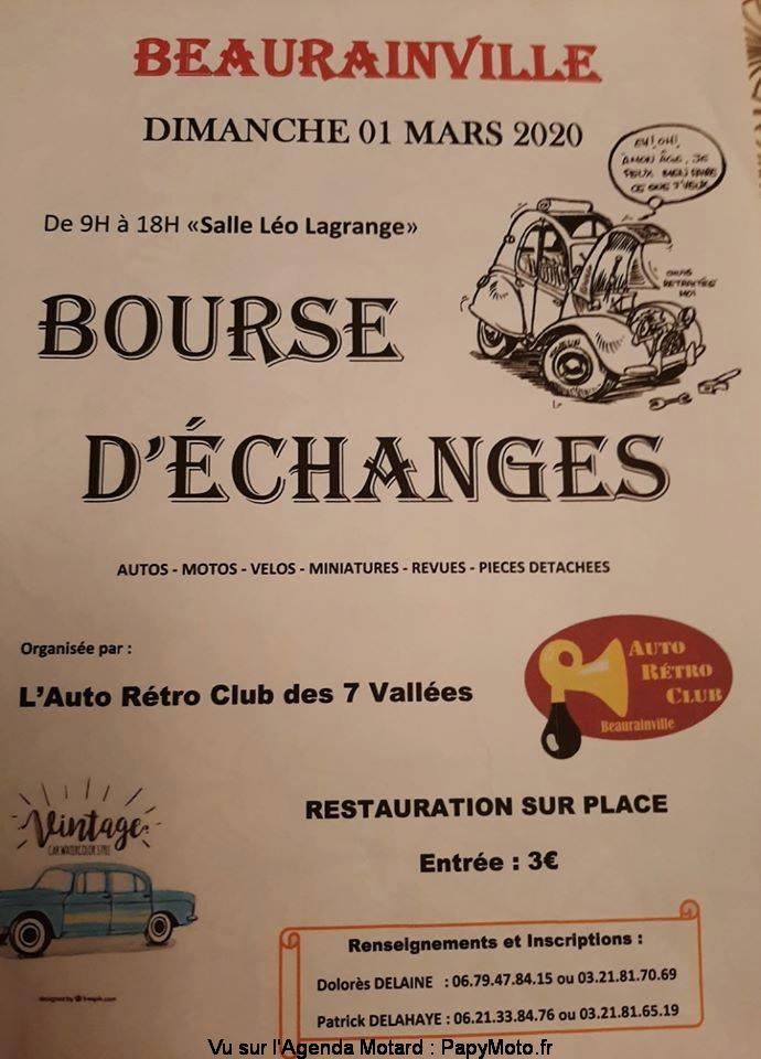 MANIFESTATION - Bourse D'échanges - Dimanche 1er Mars 2020 - Beaurainville  Bourse51