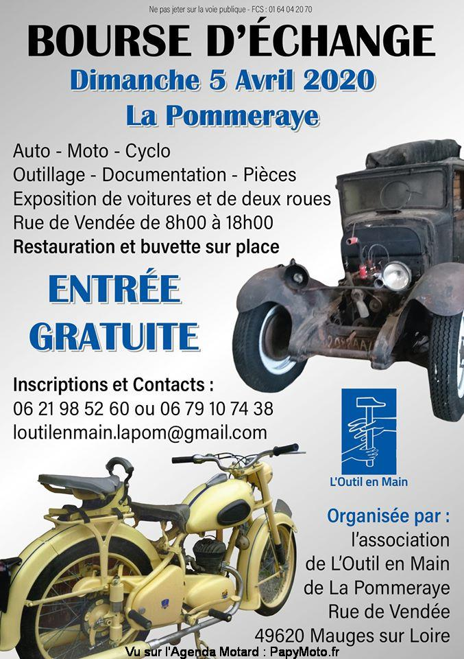 MANIFESTATION - Bourse D'échange  - Dimanche 5 Avril 2020 - La Pommeraye (49) Bourse52