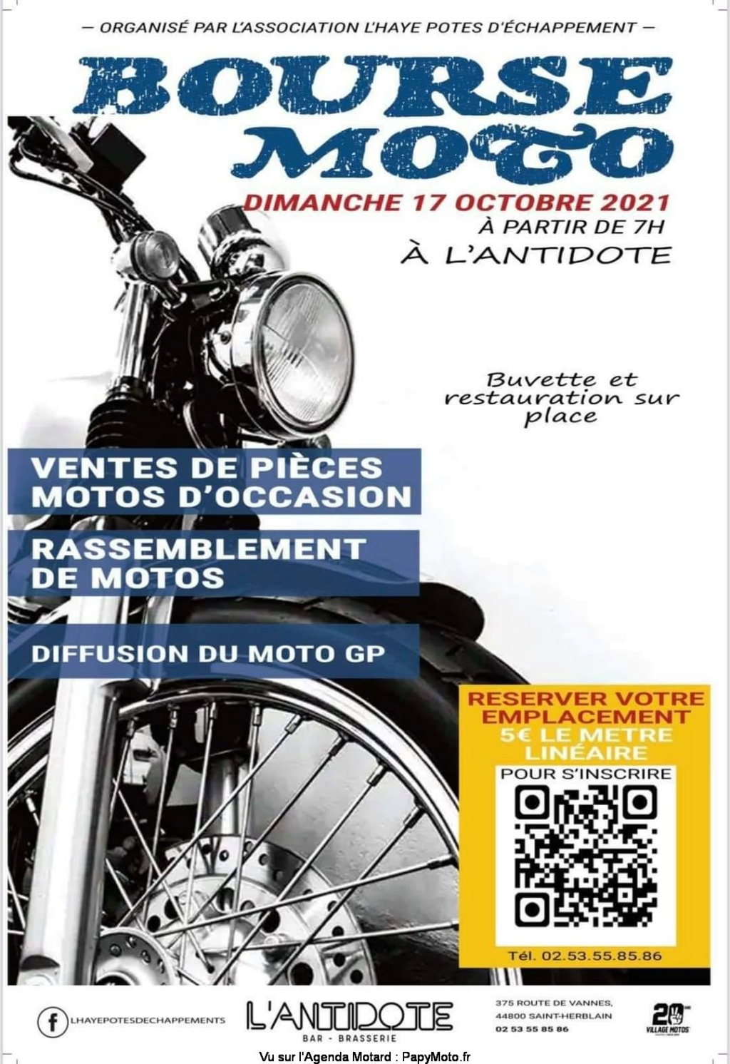 MANIFESTATION - Bourse Moto - Dimanche 17 Octobre 2021 - Saint-Herblain (44800) ( Bourse53