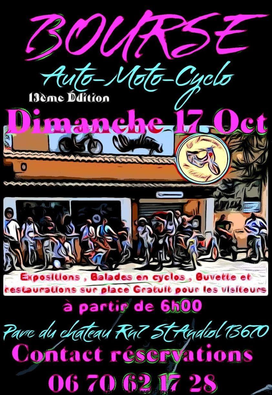 MANIFESTATION - Bourse - Auto - Moto - Cyclo - Dimanche 17 Octobre 2021 - St Audiol (13670) Bourse54