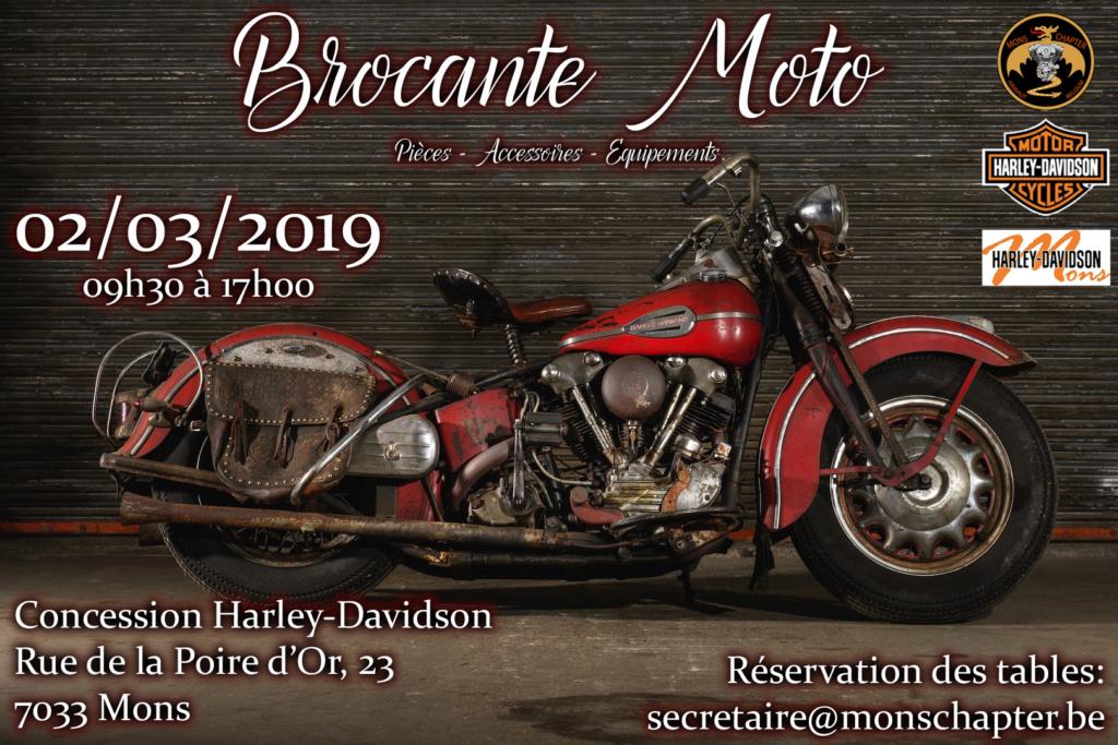 Brocante Moto - Samedi 2 Mars 2019 -  MONS ( 7033 ) Brocan11
