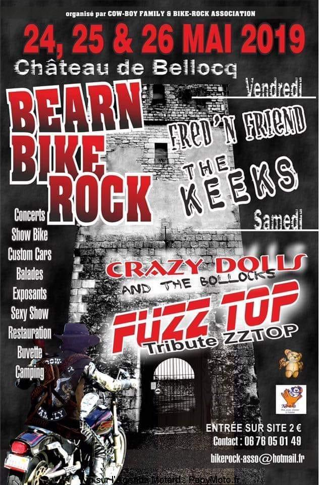 MANIFESTATION - Bearn Bike Rock - 24 - 25 - & 26 Mai 2019 - Chateau de Bellocq -  Bzoarn10