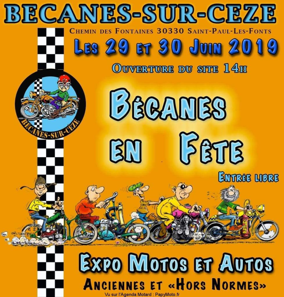 MANIFESTATION - Bécanes en Fete - 29 & 30 Juin 2019 - Saint Pauil Les Fonts (30330) Bzocan11