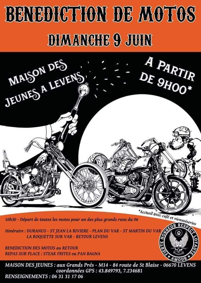 MANIFESTATION - Bénédictiion de Motos - Dimanche 9 Juin 2019 - Levens (06670) Bzonzo11