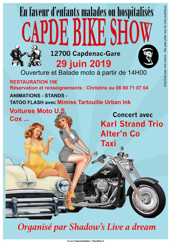 MANIFESTATION - Capde Bike Show - 29 Juin 2019 - Capdenac -  Gare (12700) Capde-10