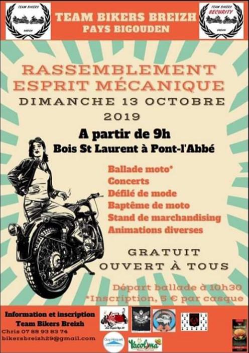 MANIFESTATION - Rassemblement - Dimanche 13 Octobre 2019 - Bois Saint Laurent - Pont-l'Abbé  Captur11