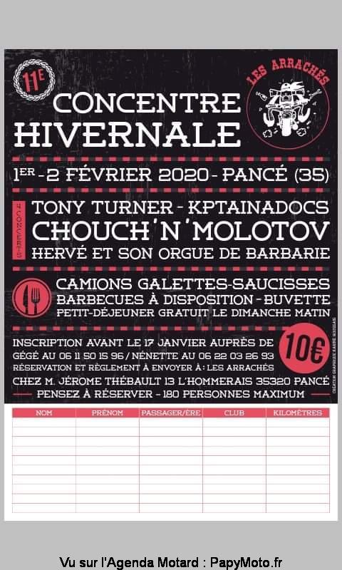 MANIFESTATION - Concentre Hivernale - 1er & 2 Février 2020 - Pancé (35) Concen42