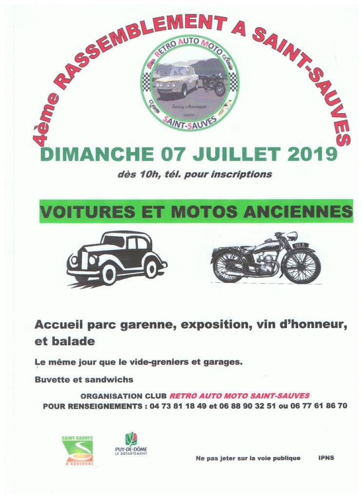 MANIFESTATION  -  Rassemblement - Dimanche 7 Juillet 2019 - Saint - Sauves (Auvergne) D5217110