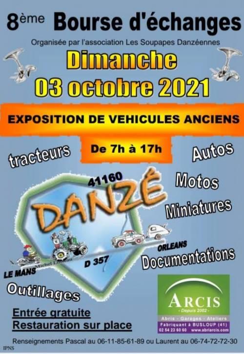 MANIFESTATION - Bourse D'échanges  - Dimanche 3 Octobre 2021 - Danzé (41160) Danze-10