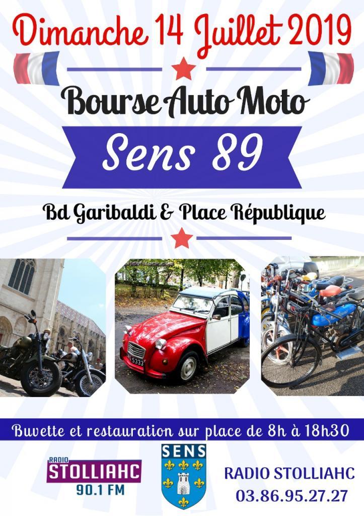 MANIFESTATION - bourse Auto -Moto - 14 Juillet 2019 - Sens (89) Dd12c910