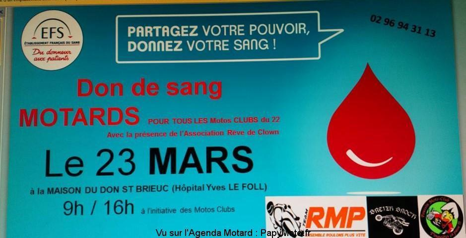 Don de Sang Motards - Samedi 23 Mars 2019 - Saint - Brieuc -(22) Don-de10