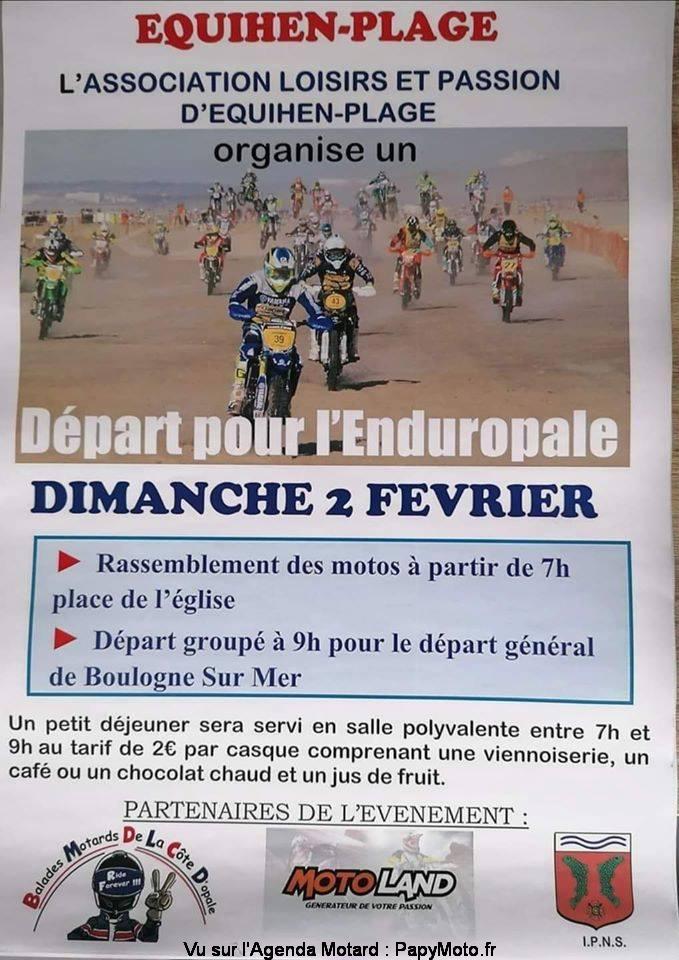 MANIFESTATION - Départ pour l'Enduropale - Dimanche 2 Février 2020 - Equihen - Plage   (62) Dzopar10