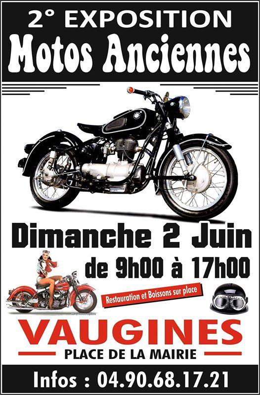 MANIFESTATION - Expo Motos Anciennes - Dimanche 2 Juin 2019 - Vaugines ( Place de la Mairie )  E3013210