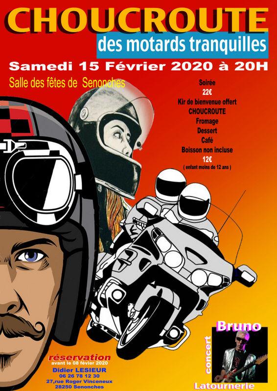 MANIFESTATION - Choucroute des Motards Tranquilles - 15 Février 2020 - Senonches (28250) E9v6q-11
