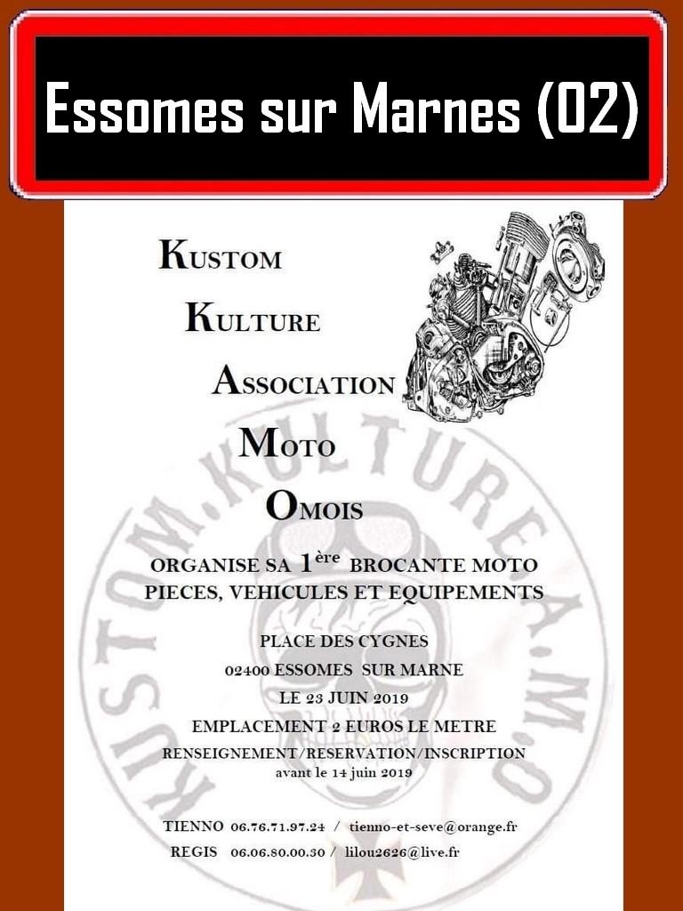 MANIFESTATION - Kustom Kulture Association Moto - 23 Juin 2019 - Essomes sur Marnes (02) Essome10