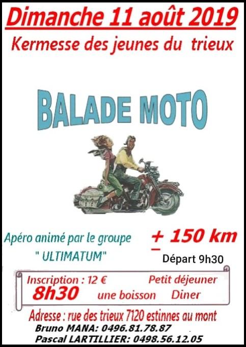 MANIFESTATION - Balade Moto - Dimanche 11 AOUT 2019 - Estinnes au Mont (7120)  Estinn10