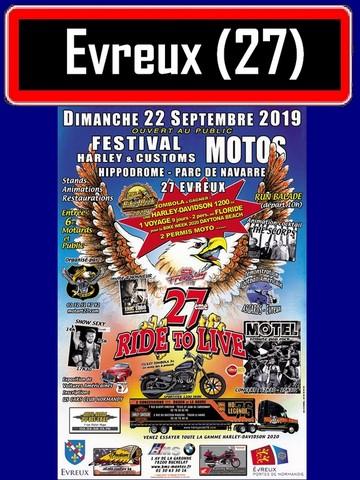 MANIFESTATION -  Festival Motos - Dimanche 22 Septembre 2019 - Evreux (27) Evreux11