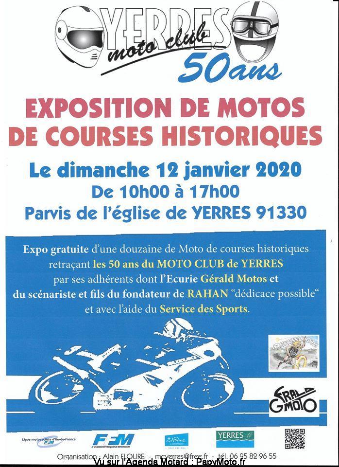 MANIFESTATION - Exposition Motos De Courses Historiques - 12 Janvier 2020 - Yerres (91330) Exposi14