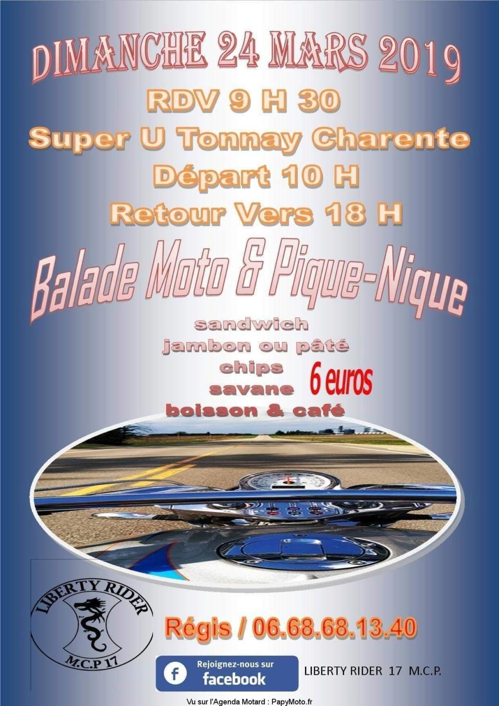 Rappel - Balade Moto et Pique -Nique - Dimanche 24 Mars 2019- Tonnay-Charente (17) Facebo19