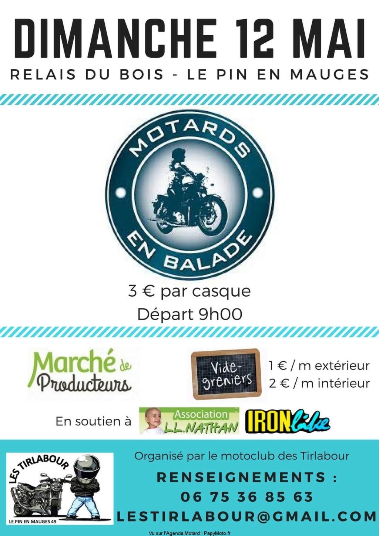 MANIFESTATION - Balade Motos - Dimanche 12 Mai 2019 - Le Pin En Mauges ( 49110) Facebo33
