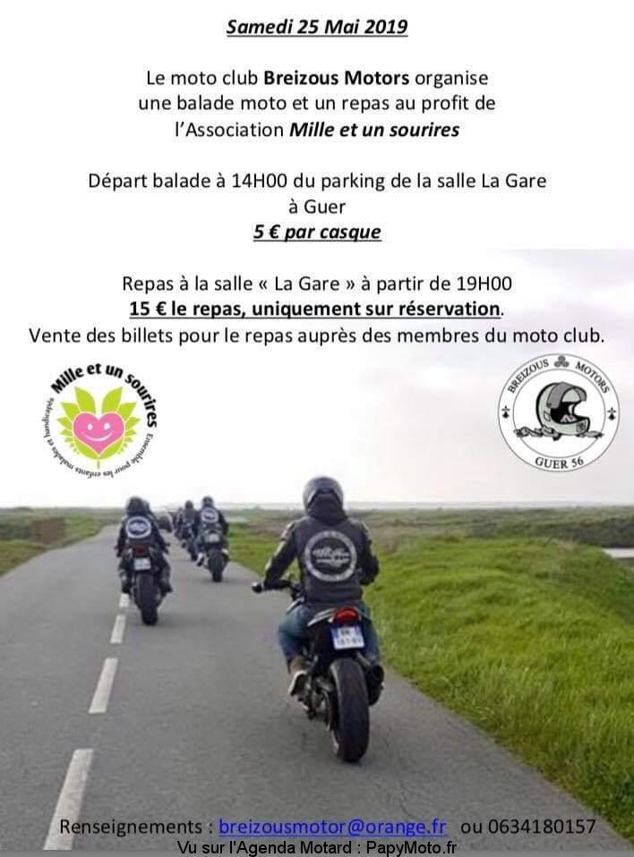 MANIFESTATION - Balade Moto - Samedi 25 Mai 2019 - Parking de la Gare - GUER Facebo35