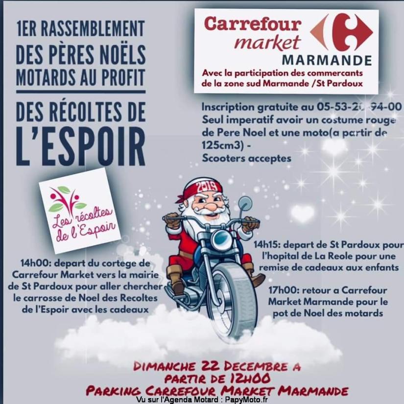 MANIFESTATION - Rassemblement des Pères Noel Motards - 22 Décembre 2019- Marmande  Facebo40