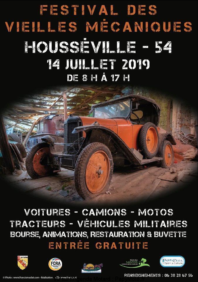 MANIFESTATION - Festival des Vieilles Mécaniques - 14 Juillet 2019 - Housséville (54) Festiv19