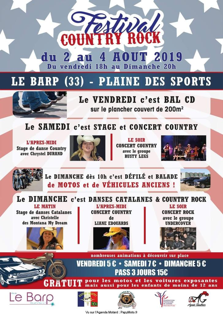 MANIFESTATION - Festival Country Rock - du 2 au 4 AOUT 2019 - Le BARP (33) Festiv20