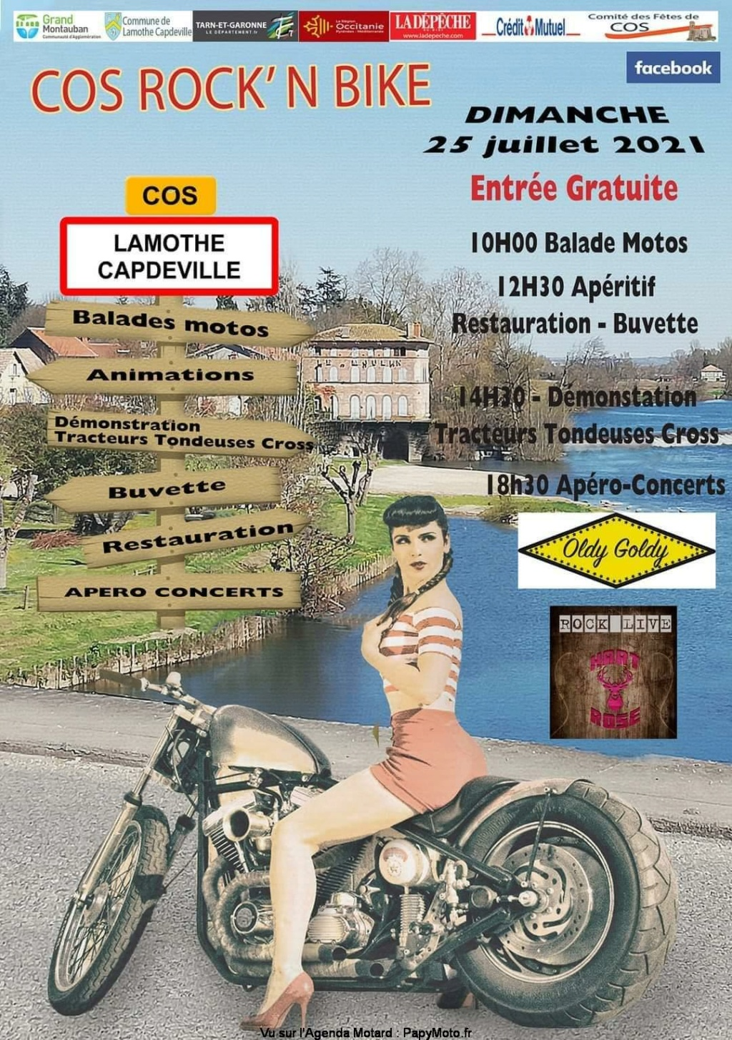 MANIFESTATION - Cos Rock'N' Bike - Dimanche 25 Juillet 2021 - Lamothe Caodeville (82) Festiv21