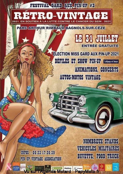 MANIFESTATION - Rétro -Vintage - 31 Juillet 2021 - Bagnols-sur-Cèze (30) Festiv22