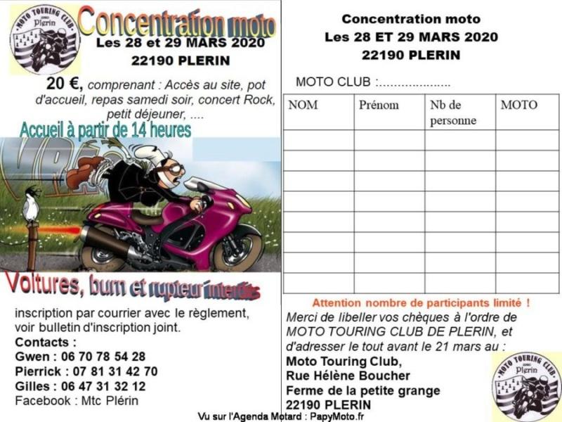 MANIFESTATION - Concentration Moto - 28 & 29 Mars 2020 - Plerin (22190) Flyer-13