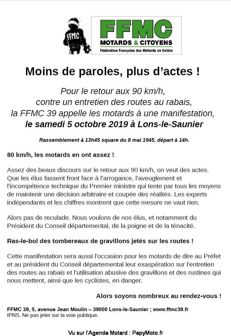 MANIFESTATION  - Samedi 5 Octobre 2019 - Lons-le-Saunier (39000) Flyerm10