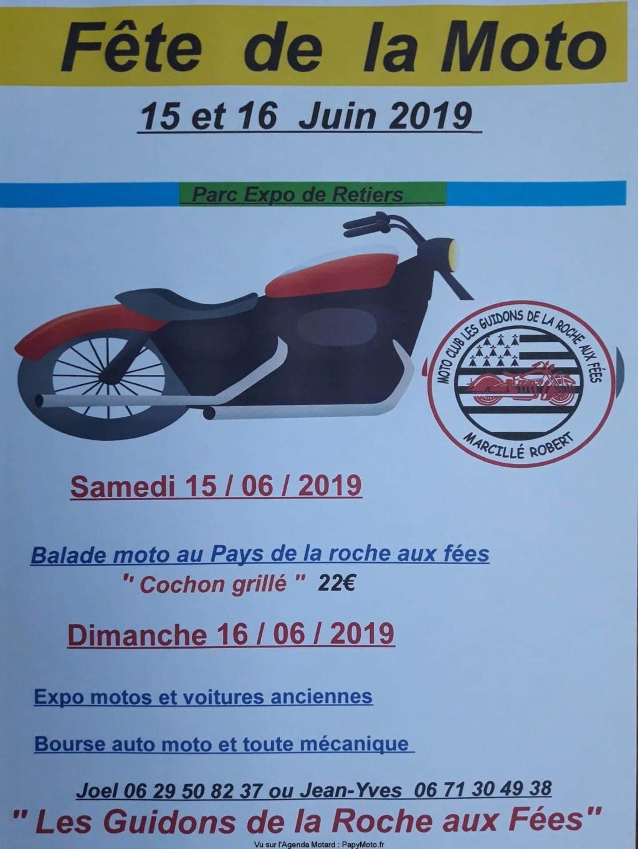 MANIFESTATION - Fete de la Moto - 15 & 16 Juin 2019 - Parc Expo de RETIERS Fzote-34